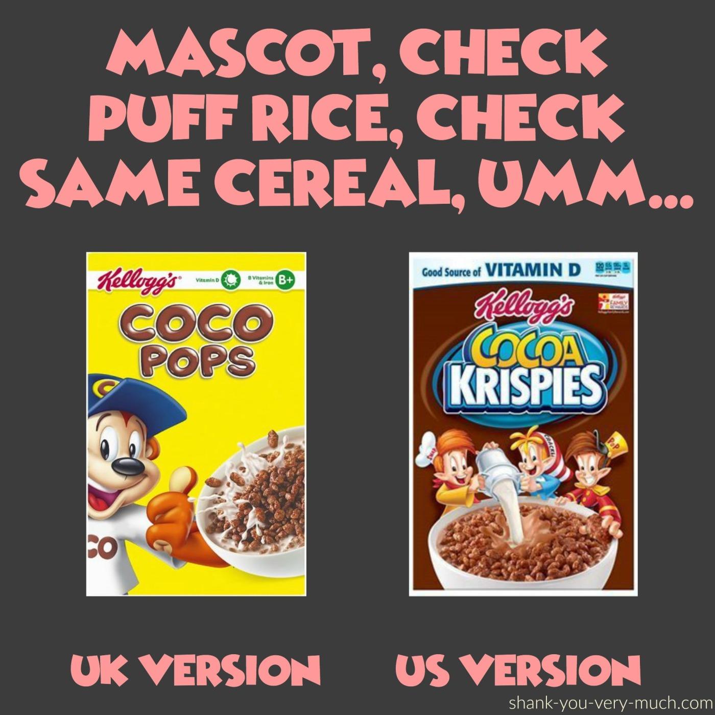 Taste test - Cocoa krispies