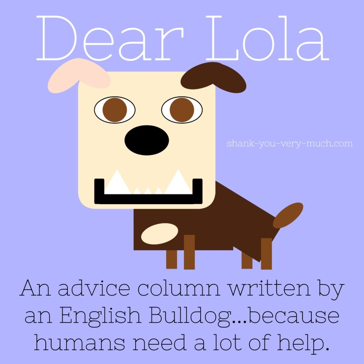 A cartoon rendering of Lola that says