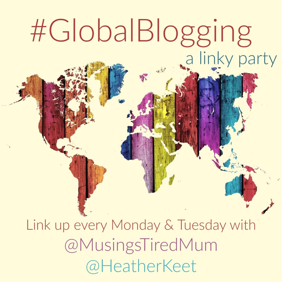 A text box that says #GlobalBlogging